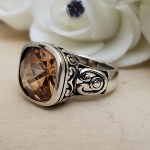 Jewelry - Vintage 925 Sterling Silver Topaz Gemstone Ring S6
